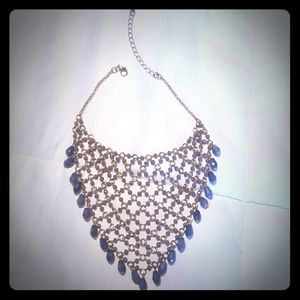 Anthropologie faceted bead bib necklace- New
